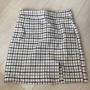 Garage slit mini skirt